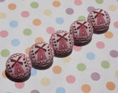 Fabric Covered Windmill Buttons (3/4 inch)