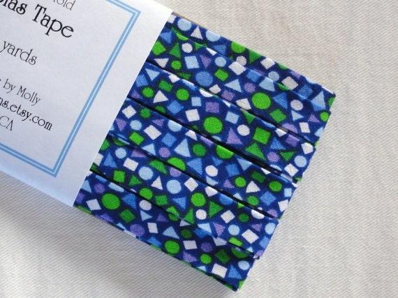 Blue Confetti Double Fold Bias Tape (4 Yds)