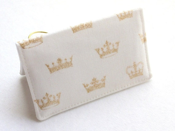 Gold Glitter Crowns Business Card Holder or Credit Card Case