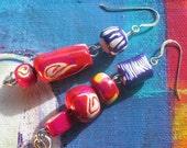 OddGems Asymmetrical Handmade Bead Earings ( Item no.125)