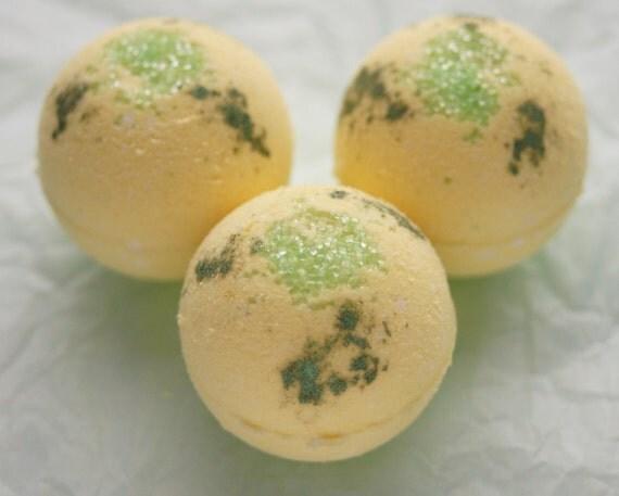 Gingered Bergamot Handmade Moisturizing Bubble Bomb One 2 to 2.5 oz Bubble Bomb