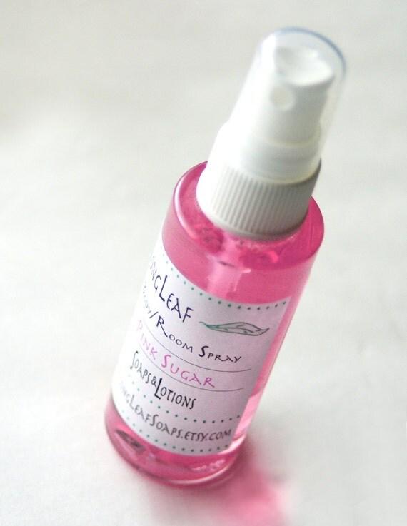 Pink Sugar Silky Body Spray Room Spray One 2 Ounce Bottle Scented Body Mist Body Spritz Fragrance Spray Scented Spray