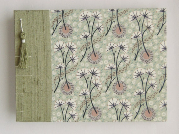 "Wedding Guest Book - Liberty Print - Umbels and Florals - 8"" x 6"" - Ready to Ship"