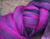 50 gram of multicolored purples woolroving