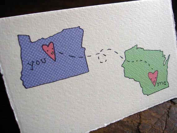 Oregon and Wisconsin card