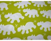 3 yards Ikea hippos lime green barnslig