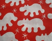 3 yards ikea red hippos barnslig