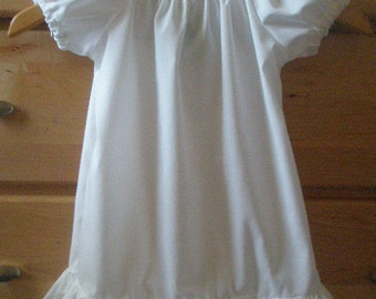 Childs peasant DRESS with ruffle  You Choose color and size up to 12 years
