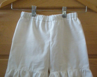 childs cotton RUFFLE SHORTS your color choice and size choice