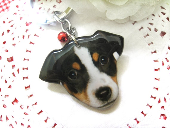 Jack Russell Terrier dog head keychain / Dog Keychain / pet memorial / pet loss / Dog lover / gift / dog accesorries / personalized /A0015-K