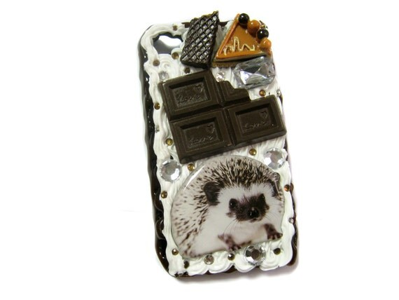 Hedgehog Chocolate theme Cream Deco Iphone Case 4/4s
