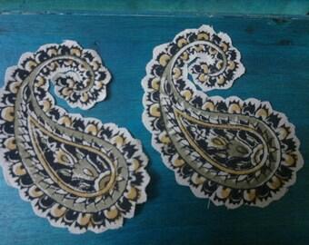 Set of 20 Mix Design Kalamkari Print Cotton Fabric Applique