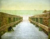 The Beginning - Beach photography, boardwalk to beach, Naples, Florida.