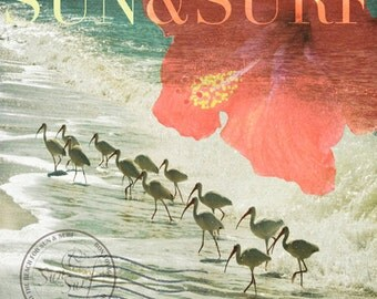 Sun & Surf Art Print 8x8