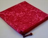 HALF PRICE SALE Handmade bag Malva - mini makeup pouch