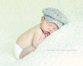 The Donegal, Baby sizes - Irish Cap, Crochet Hat Photo Prop