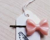 cute pink bow bobby pin