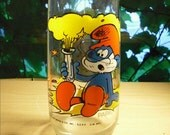 vintage McDonald's Papa Smurf glass