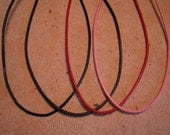 18 Inch Adjustable Leather Cord Necklace in Black, Dark Brown, Red, or Pink Pendant Necklace
