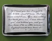 """Jane Austen """"Emma"""" Mr. Woodhouse Quotation Large Rectangle Glass Paperweight - Truth"""