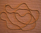 24 Inch Sun Gold, Silver, Vintage Gold, Antique Copper, or Black 1.5 mm Ball Chain Necklace