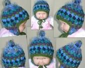PDF crochet pattern Timothy Earflap Winter Hat Scrap Yarn Crochet