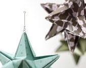 Star Ornaments - Origami - set of three