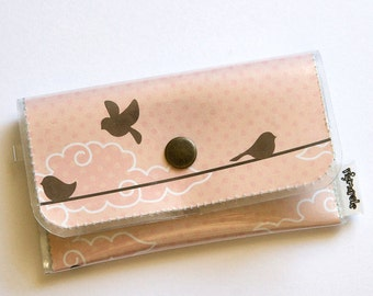 Pink Birds - Womens Card Wallet