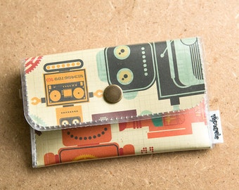 Vintage Robot -  Vinyl Card Wallet