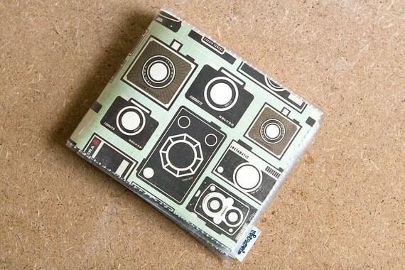 Vintage Camera Mens Wallet - Billfold Vinyl