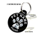 Dog Cat Pet ID Tag Personalized with Your Pets Name and Phone Number (LP815)