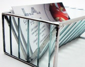 Stained Glass Business Card Holder - Contemporary Clear