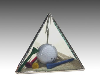 Stained Glass 3D Golf Paperweight - The Sandtrap, 17th Anniversary  Limited Edition