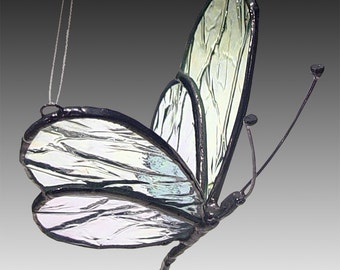 Large Stained Glass Butterfly - Home Decor - Wedding Gifts