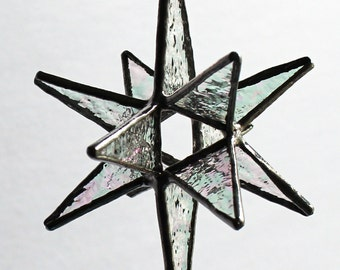 10 Stained Glass Bethlehem Moravian Stars- Ornament/Sun Catcher  -  Choose Your Color