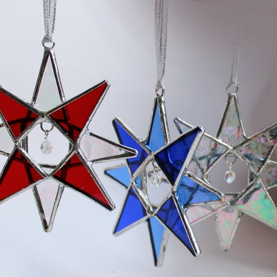 Stained Glass Star - Crystal Star, Choose Your Own Colors