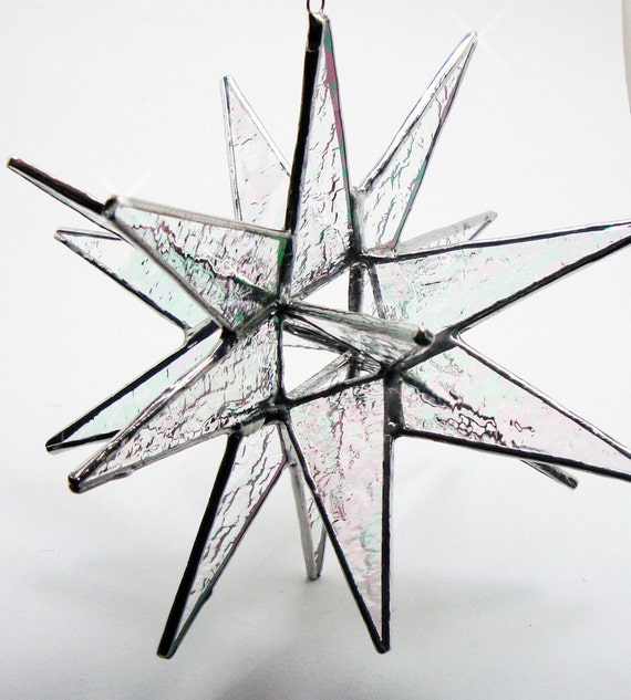 18 Point Stained Glass Moravian Star - 4.5 Inch - Choose Your Colors