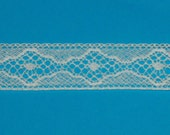 Ecru French Lace Insertion by the Yard, Additional Available