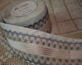 Grey, Pink and Champaign Floral Ribbon 1/2 Yard, Additional Available