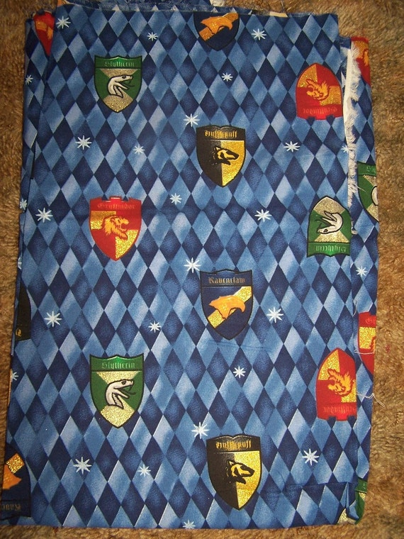 1 Yard Harry Potter Cotton Fabric Houses By
