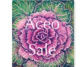 ACEO 2.5 x 3.5 Fine Art Print - Purple Cabbage