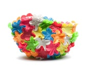 Vintage Style Bathing Cap Cosmetic Bag - Rainbow - Multi floral