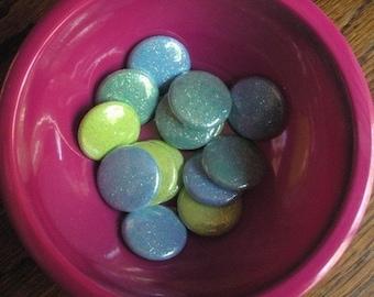 Glitter badge Magnets