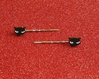 Black Cat Bobby pins