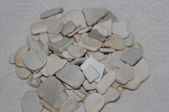 FANTASTIC BEACH GLASS Craft Ceramic Pottery shards 100 Pieces   zy88