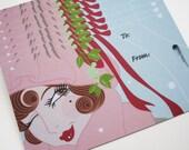 mistletoe gift tag - set of 8