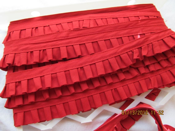 12 yards Red cotton ruffle trim from Michael Levine Los Angeles