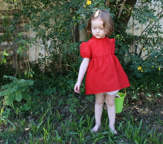 Ponyo Costume - Dress and Bloomers (Nappy Cover) - Size Newborn to Age 5