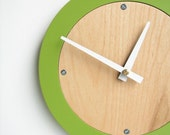 apple green modern wall clock - uncommon