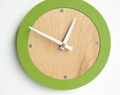 apple green modern wall clock